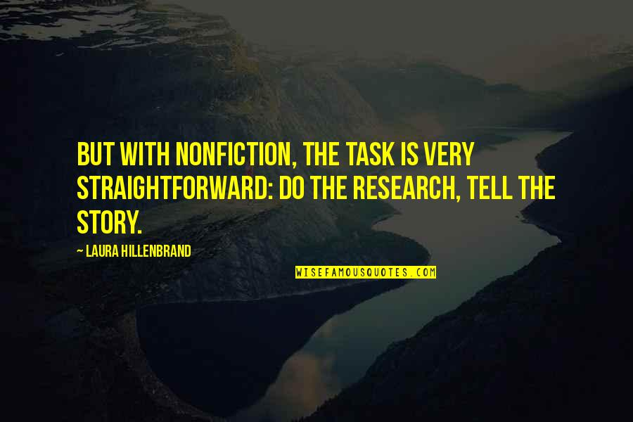 Practicer Quotes By Laura Hillenbrand: But with nonfiction, the task is very straightforward:
