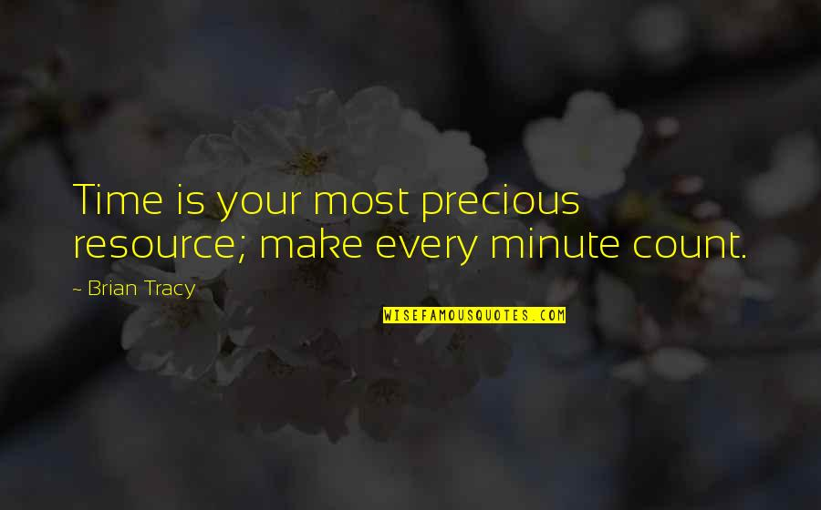 Precious Time Quotes By Brian Tracy: Time is your most precious resource; make every