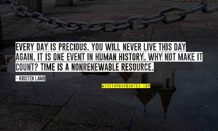 Precious Time Quotes By Kristen Lamb: Every day is precious. You will never live