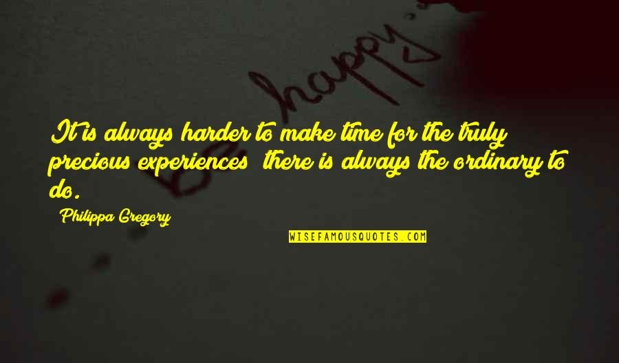Precious Time Quotes By Philippa Gregory: It is always harder to make time for