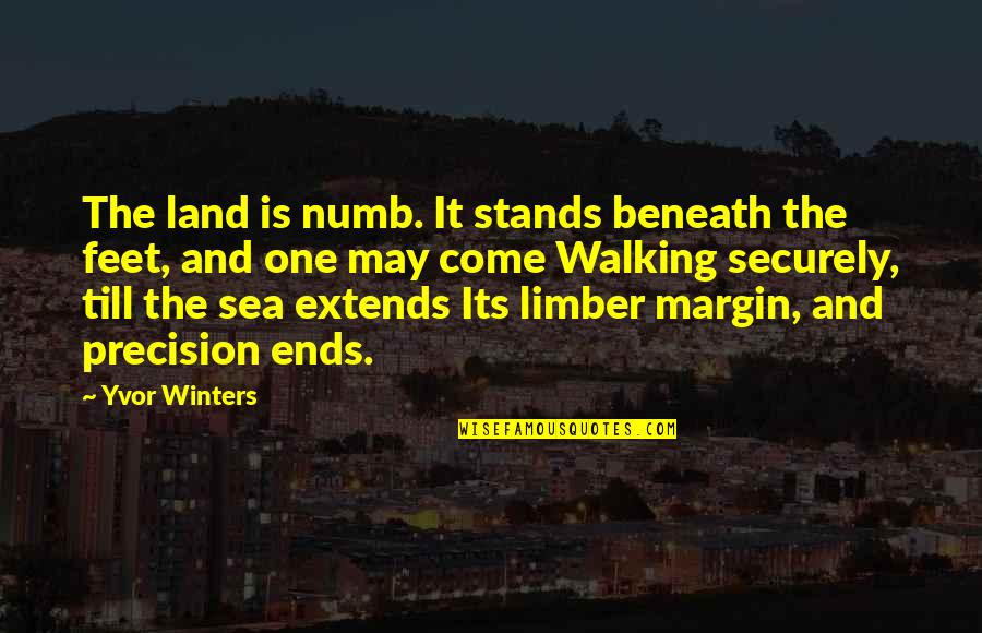 Precision Quotes By Yvor Winters: The land is numb. It stands beneath the