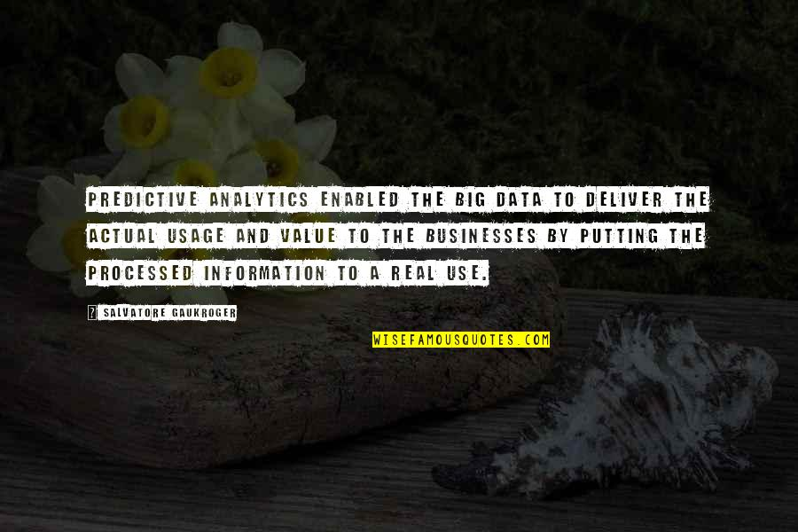 Predictive Analytics Quotes: top 7 famous quotes about