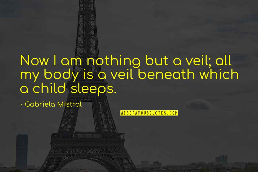 Pregnancy Body Quotes By Gabriela Mistral: Now I am nothing but a veil; all
