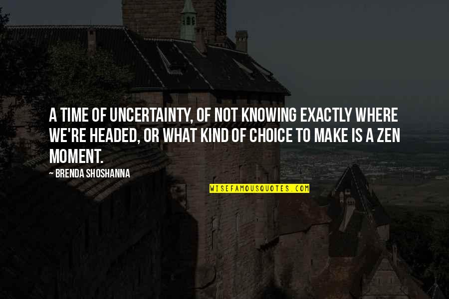 Pregnant And Doing It Alone Quotes By Brenda Shoshanna: A time of uncertainty, of not knowing exactly