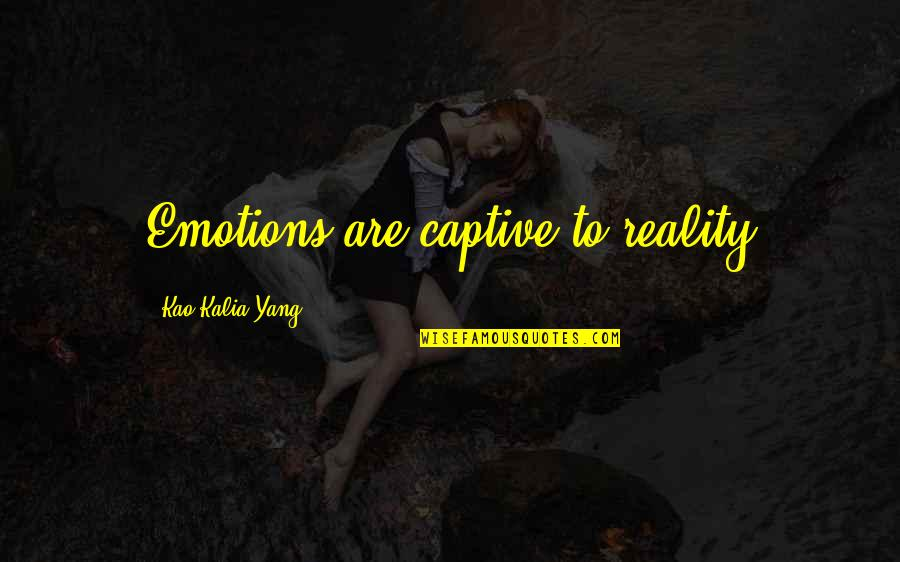 Prehistorically Quotes By Kao Kalia Yang: Emotions are captive to reality