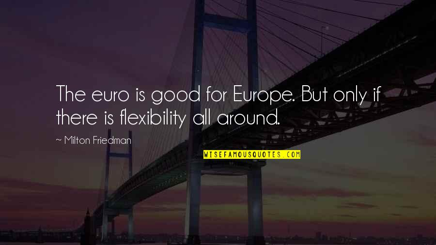 Preppy Life Quotes By Milton Friedman: The euro is good for Europe. But only
