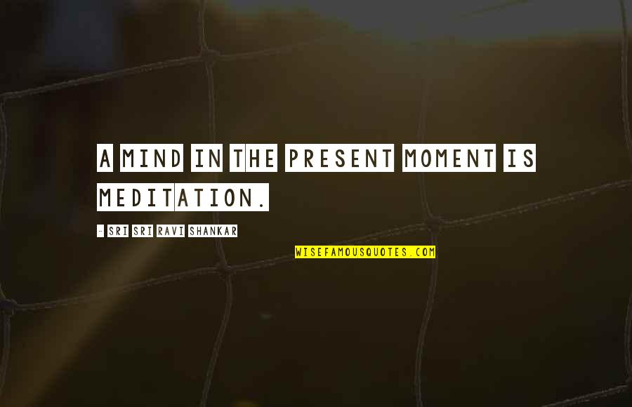 Present In The Moment Quotes By Sri Sri Ravi Shankar: A mind in the present moment is meditation.