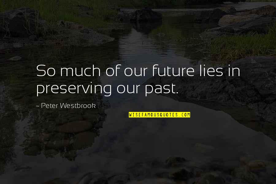 Preserving Quotes By Peter Westbrook: So much of our future lies in preserving
