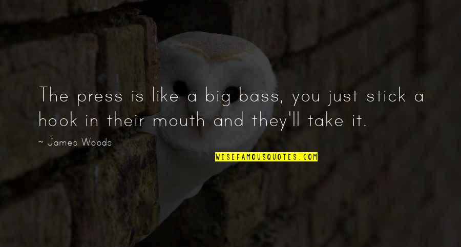 Press'll Quotes By James Woods: The press is like a big bass, you