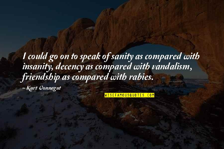 Preterhuman Quotes By Kurt Vonnegut: I could go on to speak of sanity