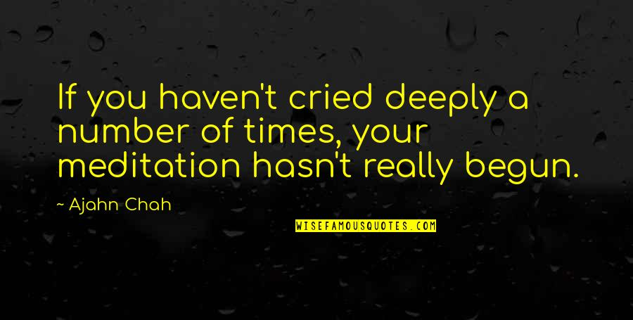 Pretty Face Ugly Personality Quotes By Ajahn Chah: If you haven't cried deeply a number of