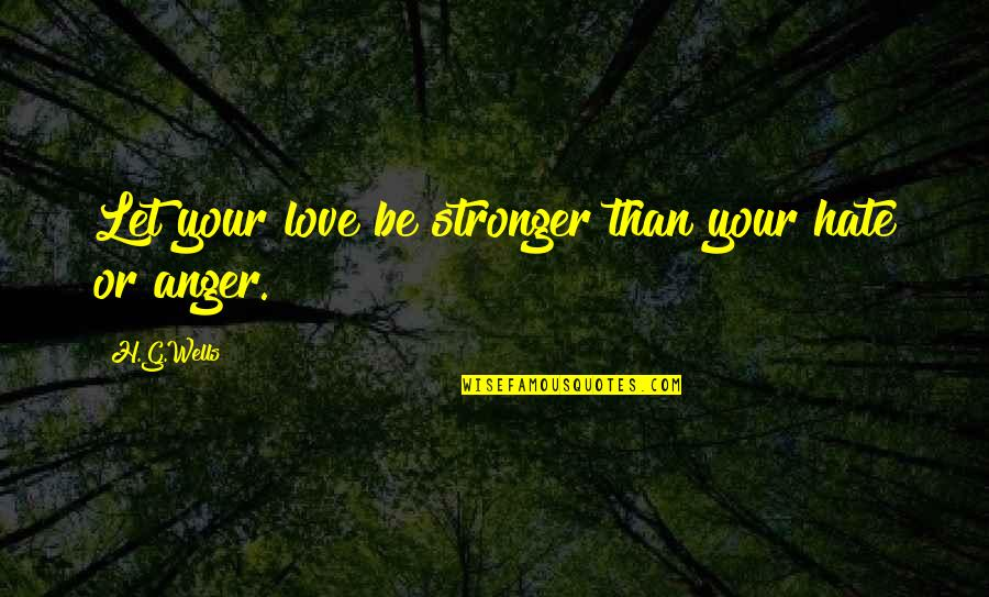 Prezi Popular Quotes By H.G.Wells: Let your love be stronger than your hate
