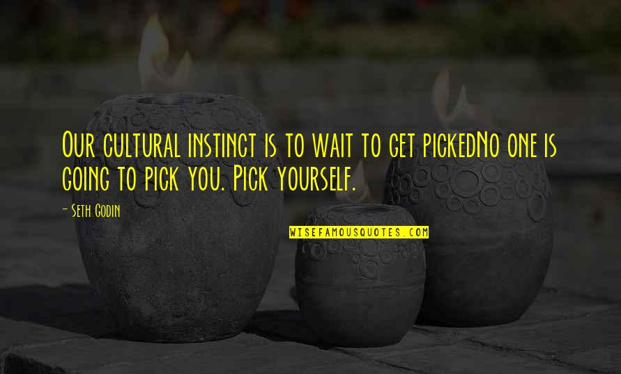 Prezi Popular Quotes By Seth Godin: Our cultural instinct is to wait to get