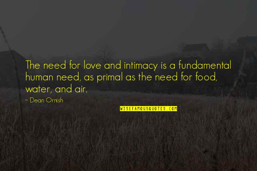 Primal Quotes By Dean Ornish: The need for love and intimacy is a