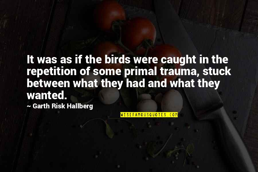 Primal Quotes By Garth Risk Hallberg: It was as if the birds were caught
