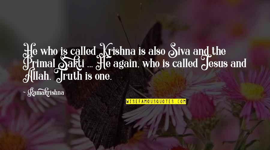 Primal Quotes By Ramakrishna: He who is called Krishna is also Siva