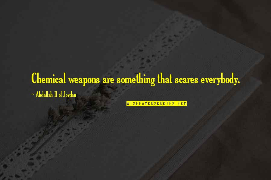 Primerica Life Insurance Company Quotes By Abdallah II Of Jordan: Chemical weapons are something that scares everybody.