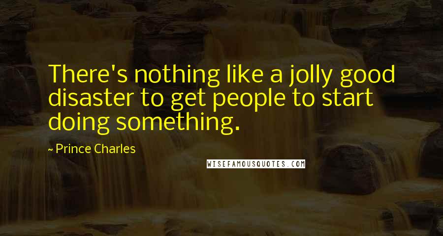 Prince Charles quotes: There's nothing like a jolly good disaster to get people to start doing something.