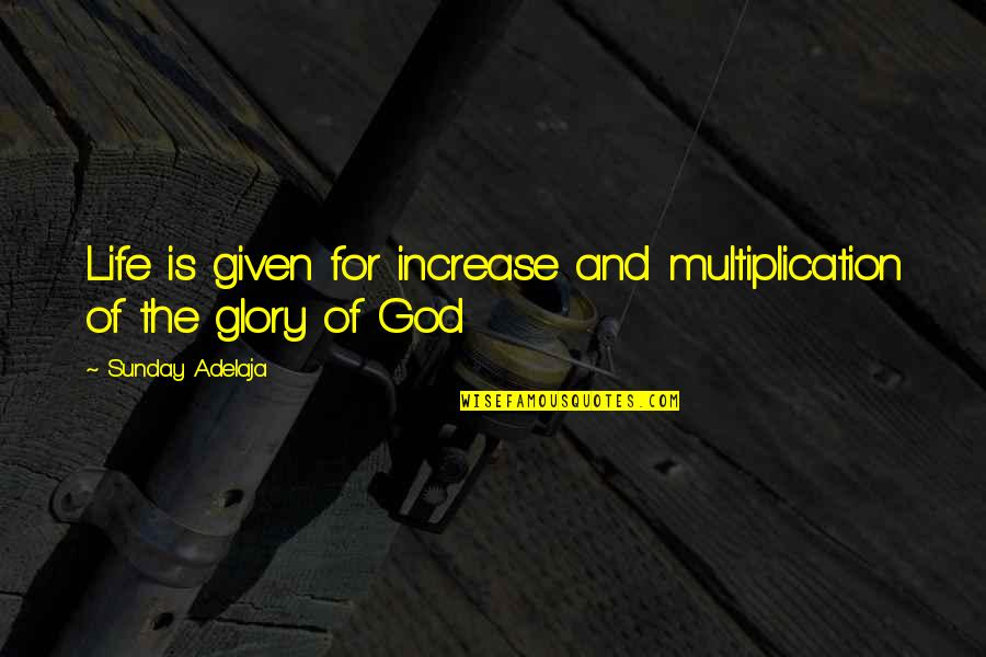 Principles Of Life Quotes By Sunday Adelaja: Life is given for increase and multiplication of