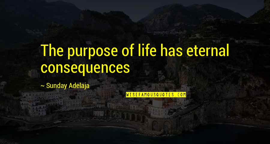 Principles Of Life Quotes By Sunday Adelaja: The purpose of life has eternal consequences