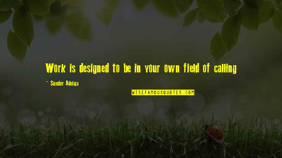 Principles Of Life Quotes By Sunday Adelaja: Work is designed to be in your own