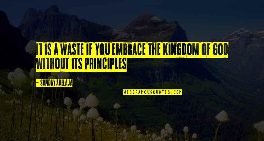 Principles Quotes By Sunday Adelaja: It is a waste if you embrace the