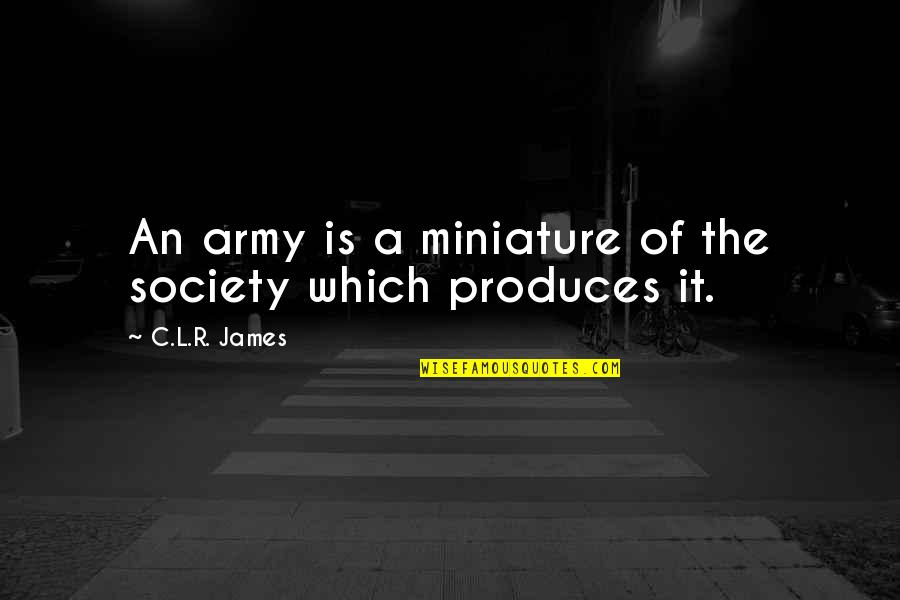 Private Mortgage Insurance Quotes By C.L.R. James: An army is a miniature of the society