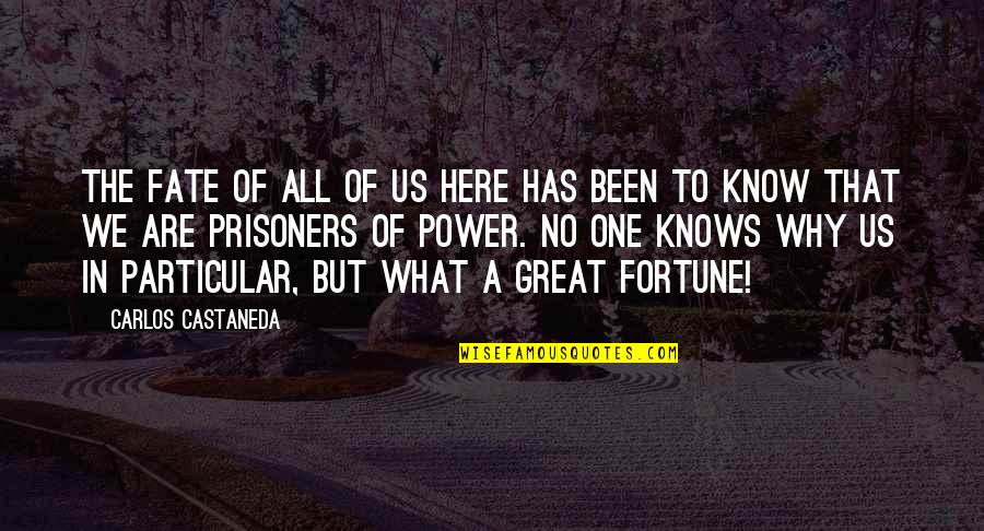 Privileged Tv Show Quotes By Carlos Castaneda: The fate of all of us here has