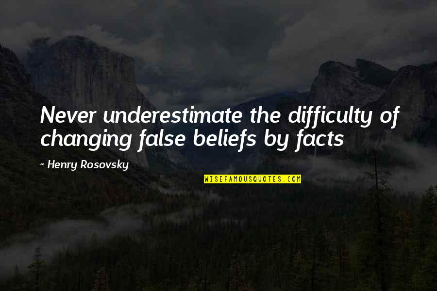 Pro Equal Rights Quotes By Henry Rosovsky: Never underestimate the difficulty of changing false beliefs