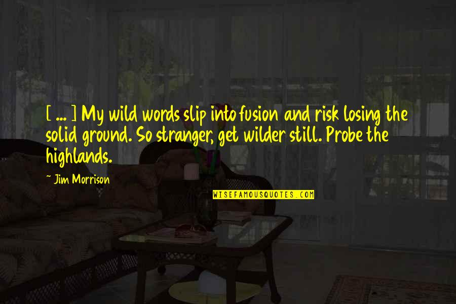 Probe's Quotes By Jim Morrison: [ ... ] My wild words slip into