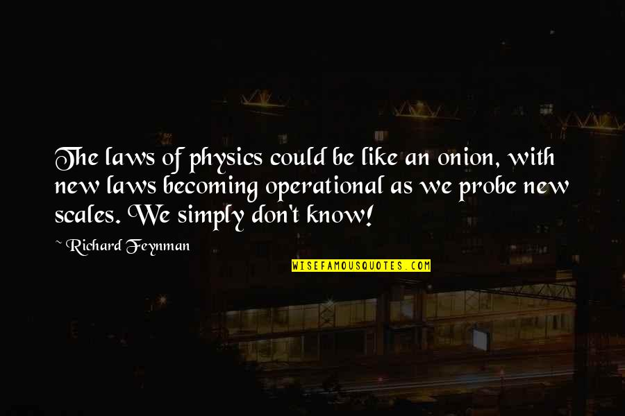 Probe's Quotes By Richard Feynman: The laws of physics could be like an