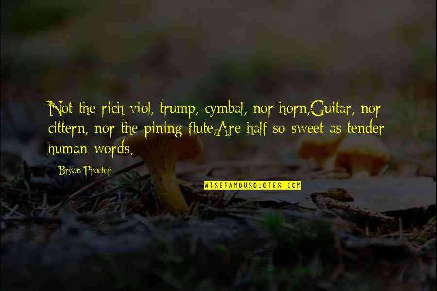 Procter Quotes By Bryan Procter: Not the rich viol, trump, cymbal, nor horn,Guitar,