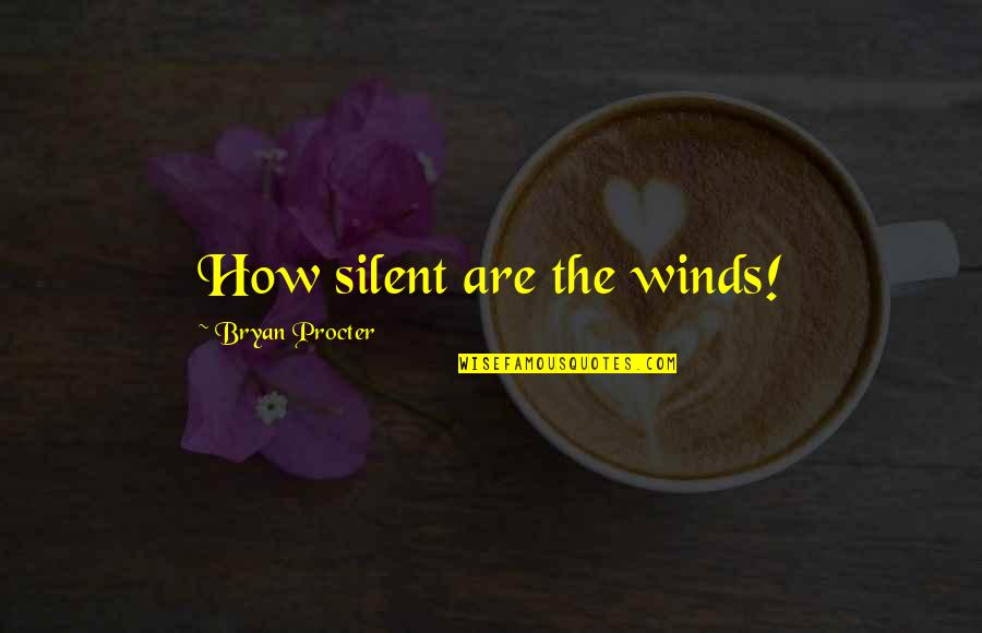 Procter Quotes By Bryan Procter: How silent are the winds!