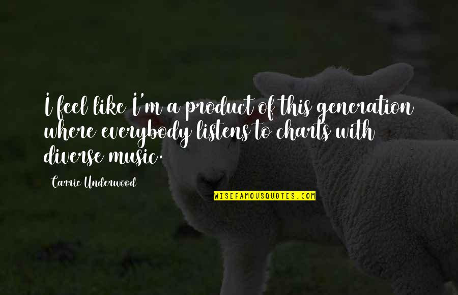 Product Quotes By Carrie Underwood: I feel like I'm a product of this
