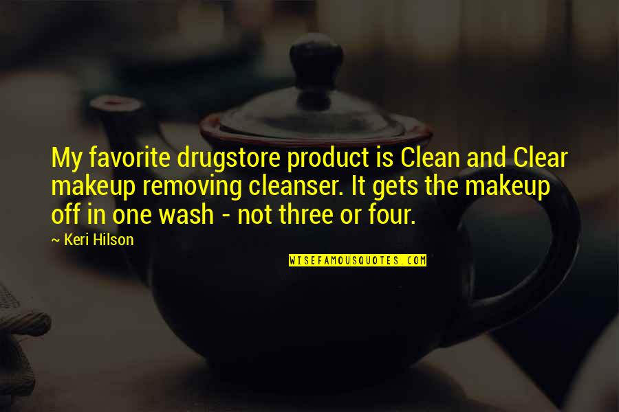 Product Quotes By Keri Hilson: My favorite drugstore product is Clean and Clear