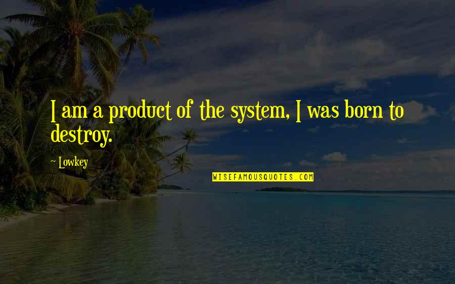 Product Quotes By Lowkey: I am a product of the system, I