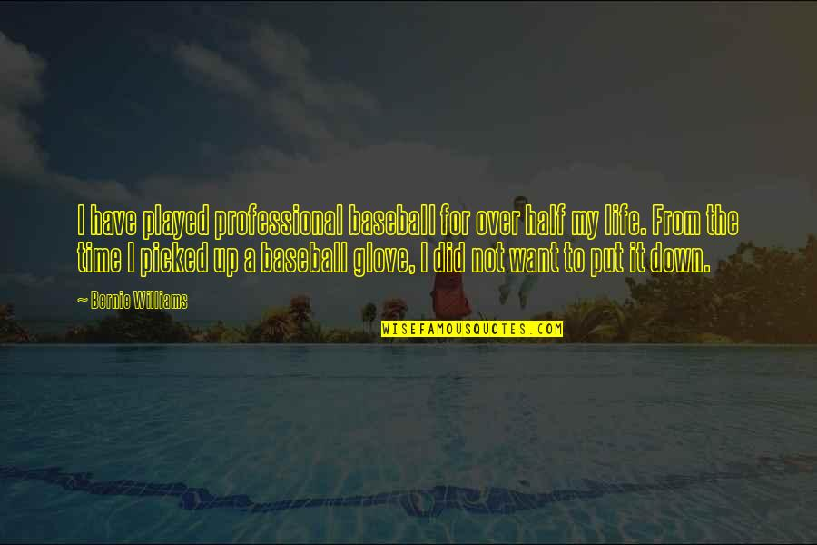 Professional Life Quotes By Bernie Williams: I have played professional baseball for over half