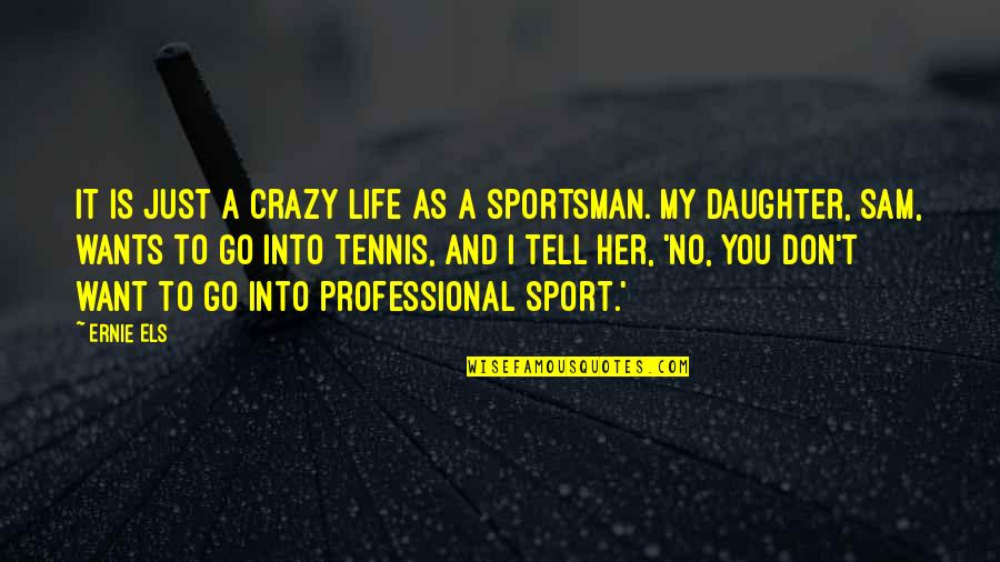 Professional Life Quotes By Ernie Els: It is just a crazy life as a