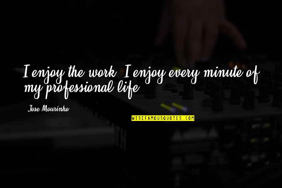 Professional Life Quotes By Jose Mourinho: I enjoy the work, I enjoy every minute