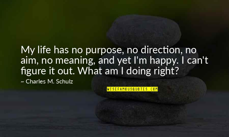 Profeten Muhammed Quotes By Charles M. Schulz: My life has no purpose, no direction, no