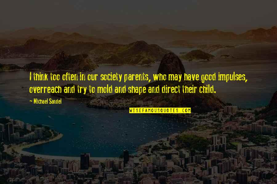 Profoundly Inspirational Quotes By Michael Sandel: I think too often in our society parents,