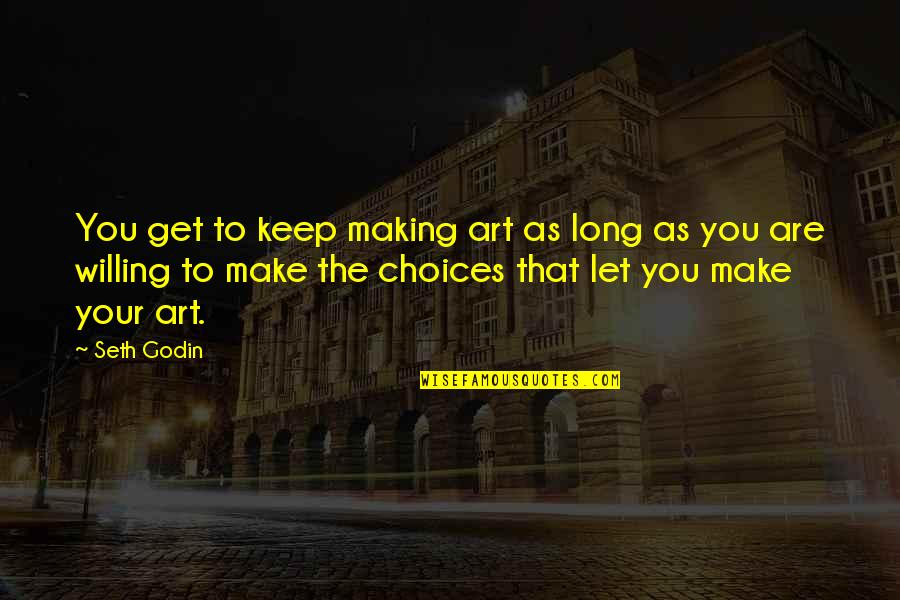 Profoundly Inspirational Quotes By Seth Godin: You get to keep making art as long