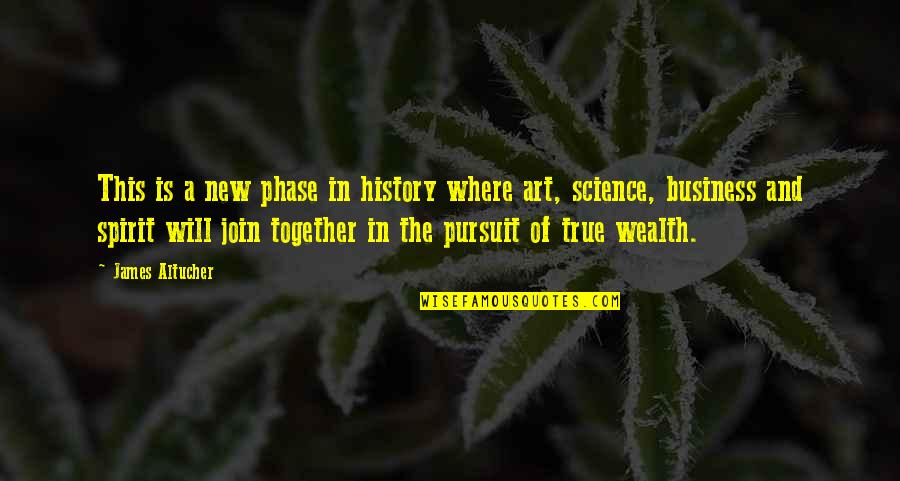 Progress Reports Quotes By James Altucher: This is a new phase in history where