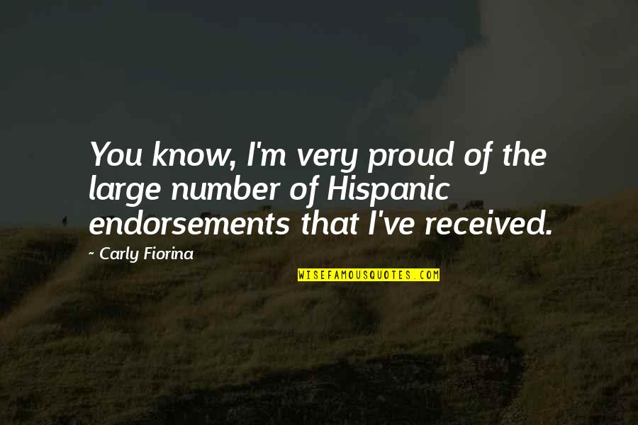 Prohibitory Quotes By Carly Fiorina: You know, I'm very proud of the large
