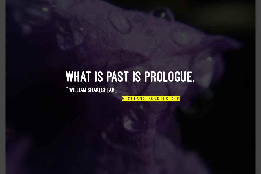Prologue Quotes By William Shakespeare: What is past is prologue.