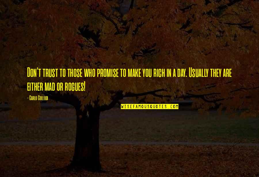 Promise To You Quotes By Carlo Collodi: Don't trust to those who promise to make