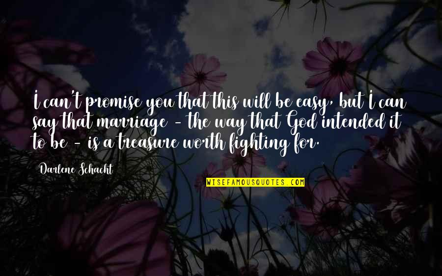 Promise To You Quotes By Darlene Schacht: I can't promise you that this will be