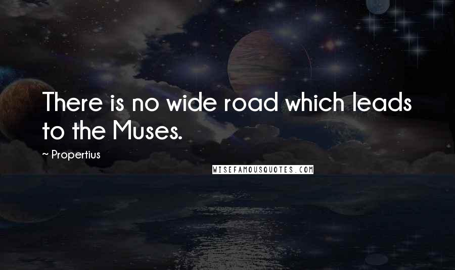 Propertius quotes: There is no wide road which leads to the Muses.