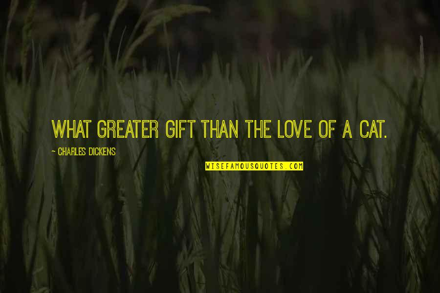 Propertylessness Quotes By Charles Dickens: What greater gift than the love of a