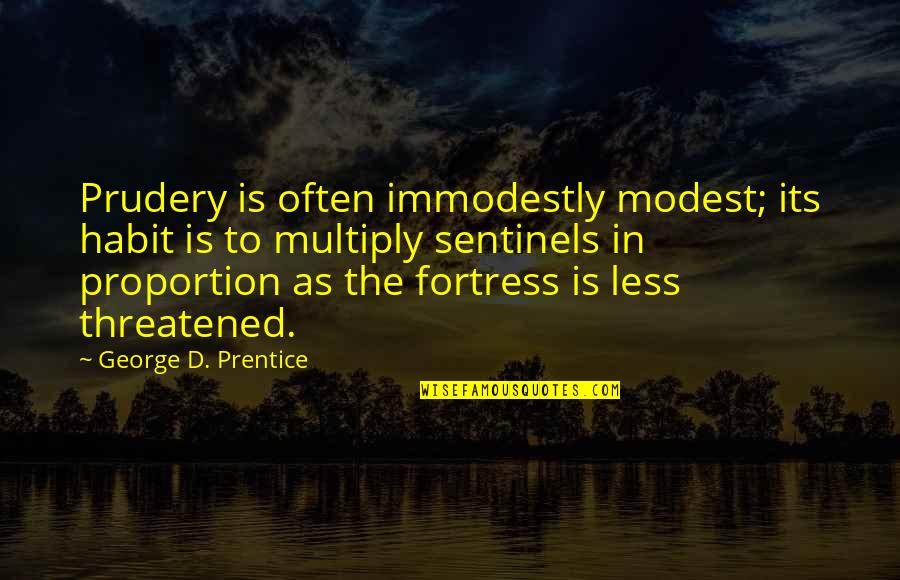 Proportion'd Quotes By George D. Prentice: Prudery is often immodestly modest; its habit is